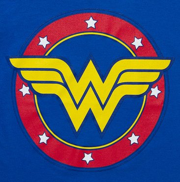 Wonder Woman Hockey Stripe Ladies' Tee
